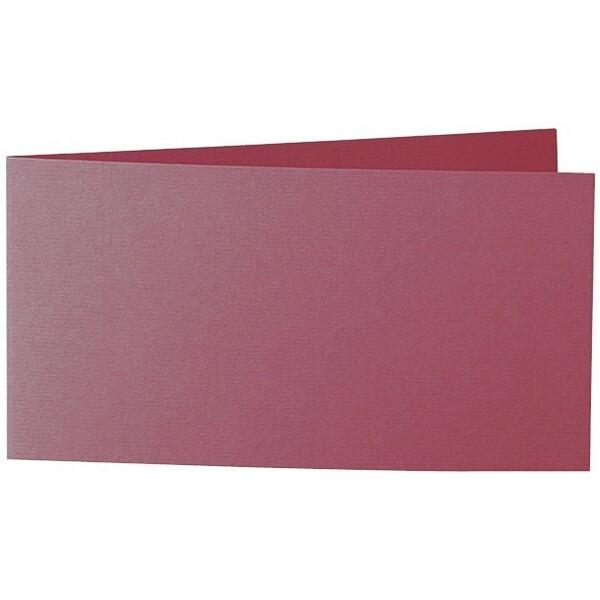 Artoz 1001 - 'Purple Red' Card. 420mm x 105mm 220gsm DL Bi-Fold (Short Edge) Card.