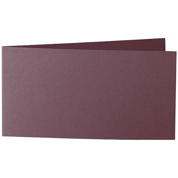 Artoz 1001 - 'Marsala' Card. 420mm x 105mm 220gsm DL Bi-Fold (Short Edge) Card.