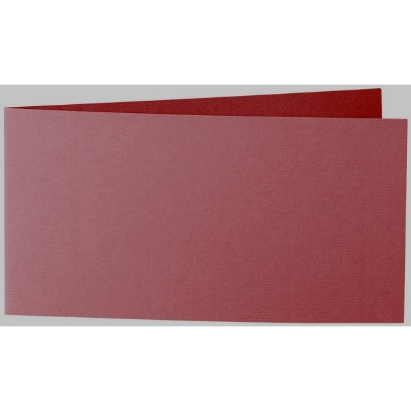 Artoz 1001 - 'Bordeaux' Card. 420mm x 105mm 220gsm DL Bi-Fold (Short Edge) Card.