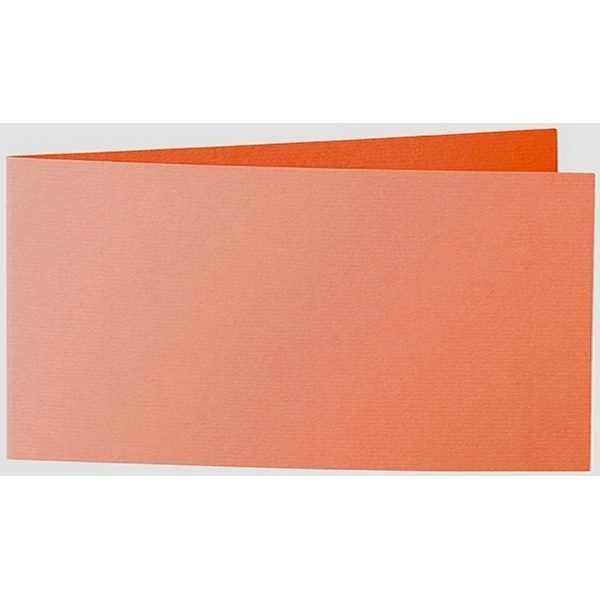 Artoz 1001 - 'Lobster Red' Card. 420mm x 105mm 220gsm DL Bi-Fold (Short Edge) Card.