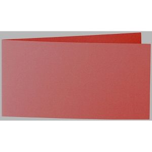 Artoz 1001 - 'Fire Red' Card. 420mm x 105mm 220gsm DL Bi-Fold (Short Edge) Card.