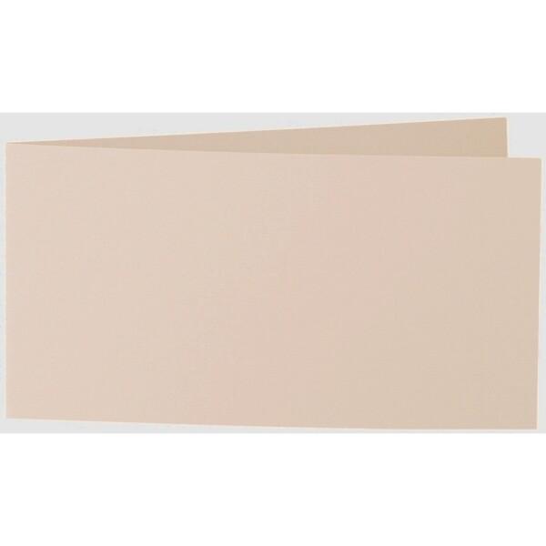 Artoz 1001 - 'Apricot' Card. 420mm x 105mm 220gsm DL Bi-Fold (Short Edge) Card.