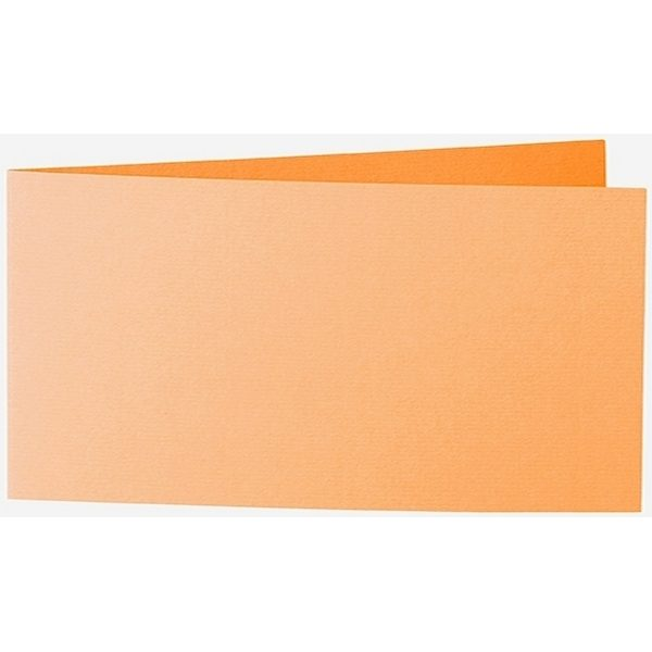 Artoz 1001 - 'Mango' Card. 420mm x 105mm 220gsm DL Bi-Fold (Short Edge) Card.