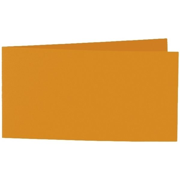 Artoz 1001 - 'Mandarin' Card. 420mm x 105mm 220gsm DL Bi-Fold (Short Edge) Card.