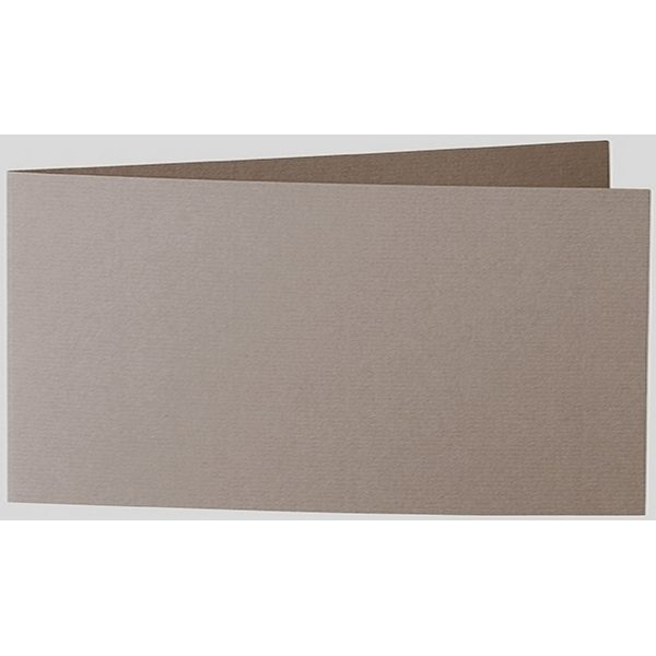 Artoz 1001 - 'Taupe' Card. 420mm x 105mm 220gsm DL Bi-Fold (Short Edge) Card.