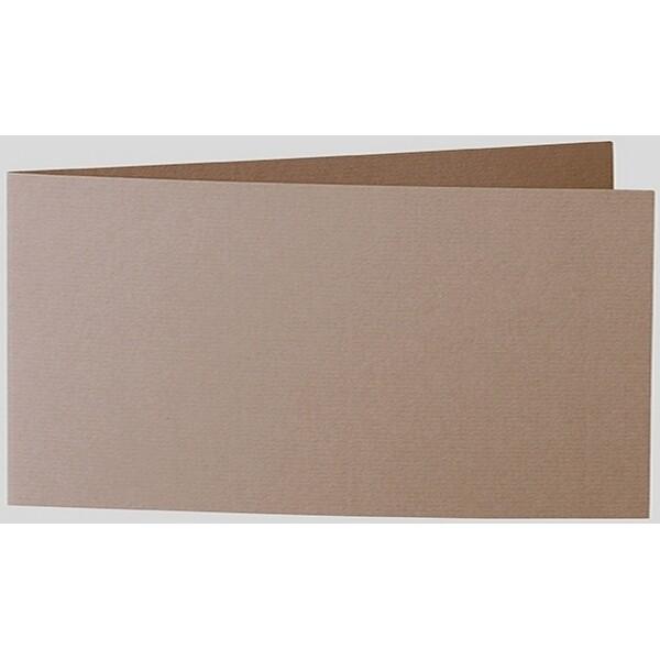 Artoz 1001 - 'Olive' Card. 420mm x 105mm 220gsm DL Bi-Fold (Short Edge) Card.