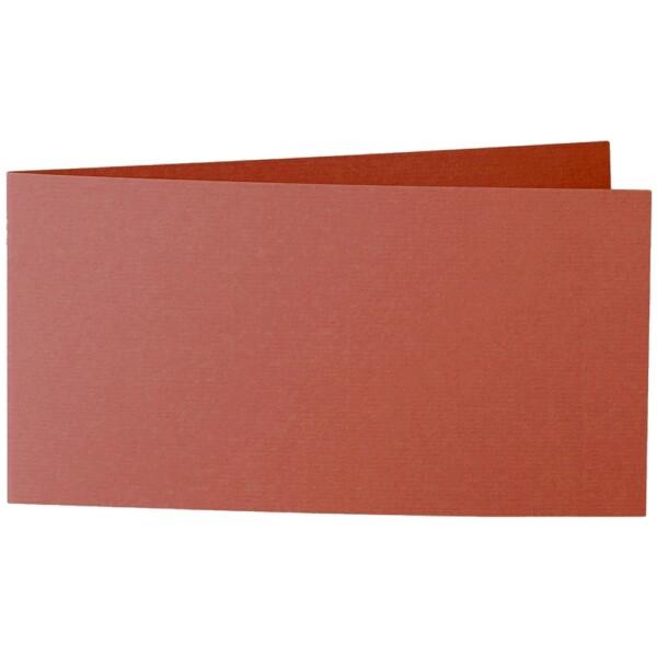 Artoz 1001 - 'Copper' Card. 420mm x 105mm 220gsm DL Bi-Fold (Short Edge) Card.