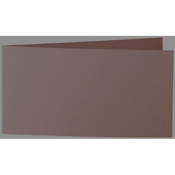 Artoz 1001 - 'Brown' Card. 420mm x 105mm 220gsm DL Bi-Fold (Short Edge) Card.