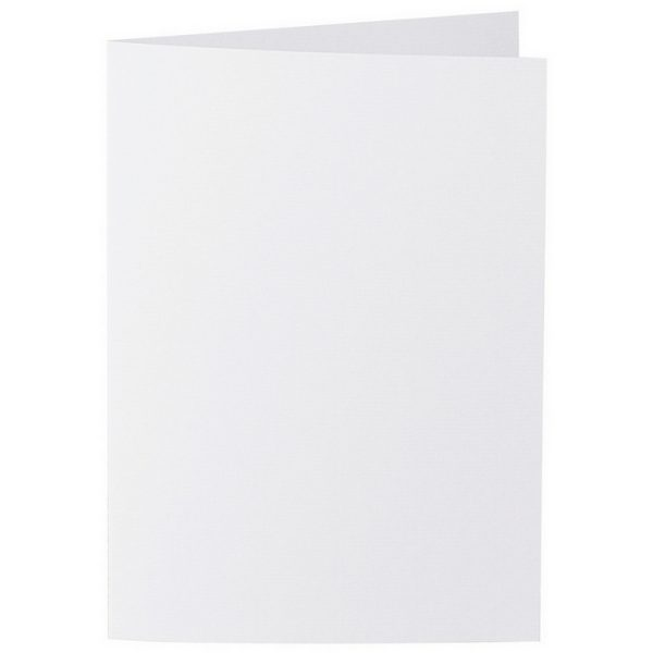 Artoz 1001 - 'Blossom White' Card. 210mm x 148mm 220gsm A6 Folded (Long Edge) Card.
