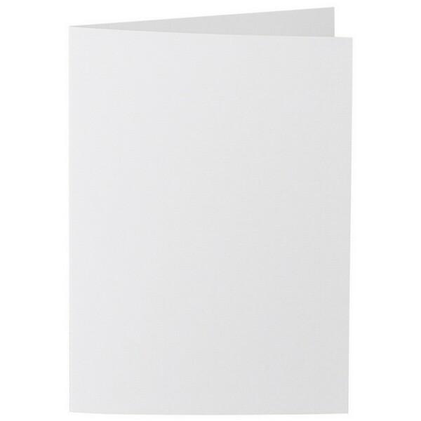 Artoz 1001 - 'Bianco White' Card. 210mm x 148mm 220gsm A6 Folded (Long Edge) Card.