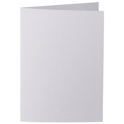 Artoz 1001 - 'Light Grey' Card. 210mm x 148mm 220gsm A6 Folded (Long Edge) Card.