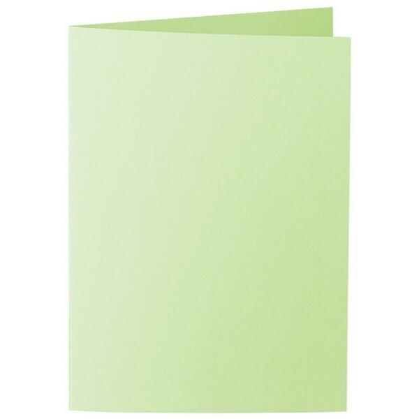 Artoz 1001 - 'Birchtree Green' Card. 210mm x 148mm 220gsm A6 Folded (Long Edge) Card.