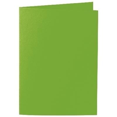 Artoz 1001 - 'Pea Green' Card. 210mm x 148mm 220gsm A6 Folded (Long Edge) Card.