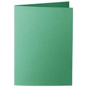 Artoz 1001 - 'Firtree Green' Card. 210mm x 148mm 220gsm A6 Folded (Long Edge) Card.
