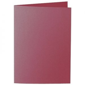 Artoz 1001 - 'Purple Red' Card. 210mm x 148mm 220gsm A6 Folded (Long Edge) Card.