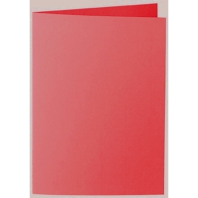 Artoz 1001 - 'Light Red' Card. 210mm x 148mm 220gsm A6 Folded (Long Edge) Card.