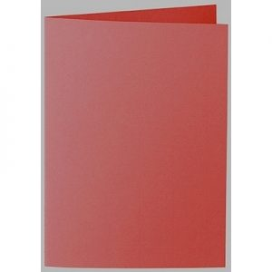 Artoz 1001 - 'Fire Red' Card. 210mm x 148mm 220gsm A6 Folded (Long Edge) Card.