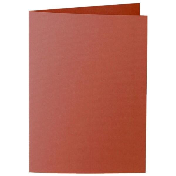 Artoz 1001 - 'Copper' Card. 210mm x 148mm 220gsm A6 Folded (Long Edge) Card.