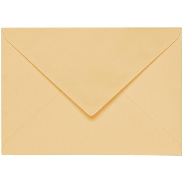 Artoz 1001 - 'Honey Yellow' Envelope. 162mm x 114mm 100gsm C6 Lined Gummed Envelope.