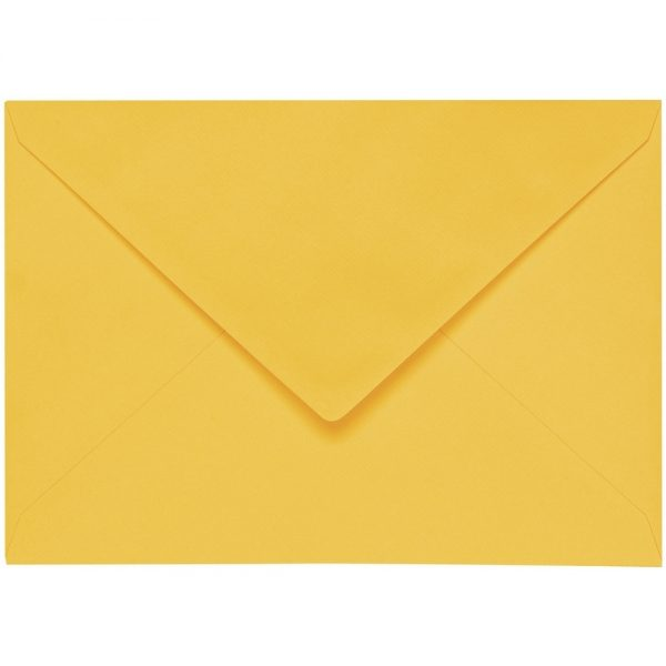 Artoz 1001 - 'Sun Yellow' Envelope. 162mm x 114mm 100gsm C6 Lined Gummed Envelope.