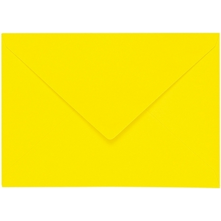 Artoz 1001 - 'Corn Yellow' Envelope. 162mm x 114mm 100gsm C6 Lined Gummed Envelope.