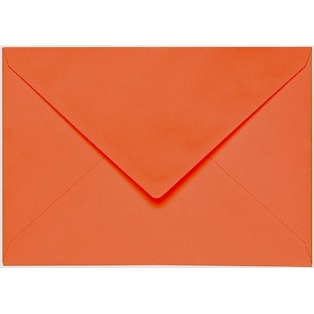 Artoz 1001 - 'Lobster Red' Envelope. 162mm x 114mm 100gsm C6 Lined Gummed Envelope.