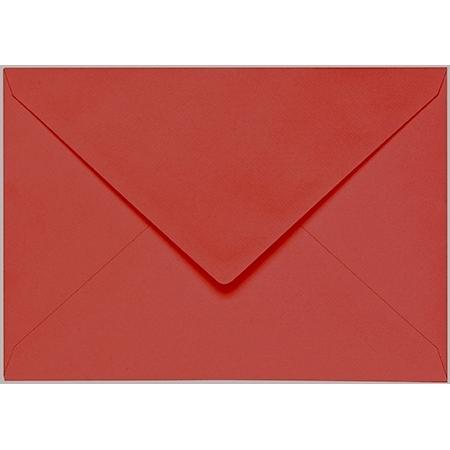 Artoz 1001 - 'Fire Red' Envelope. 162mm x 114mm 100gsm C6 Lined Gummed Envelope.