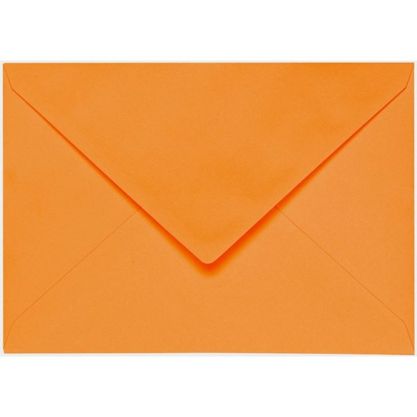 Artoz 1001 - 'Orange' Envelope. 162mm x 114mm 100gsm C6 Lined Gummed Envelope.