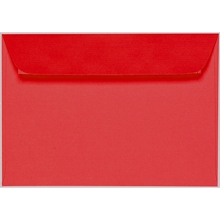 Artoz 1001 - 'Light Red' Envelope. 162mm x 114mm 100gsm C6 Peel/Seal Envelope.