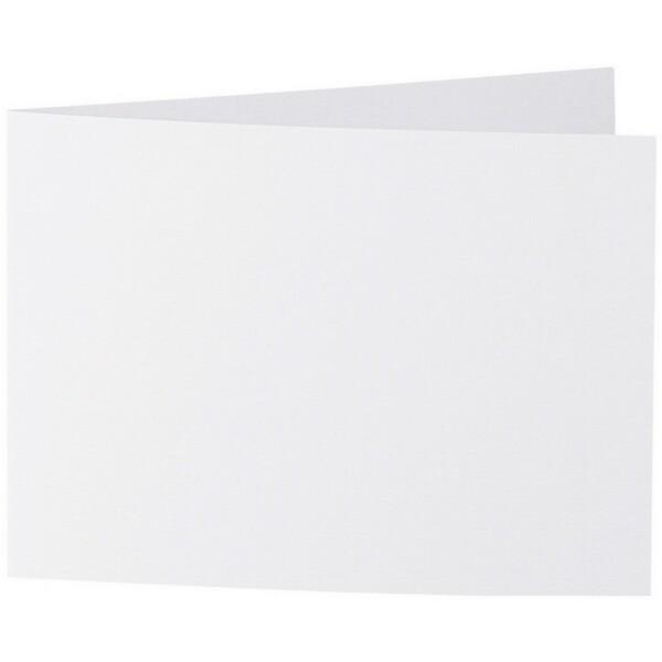 Artoz 1001 - 'Blossom White' Card. 296mm x 105mm 220gsm A6 Folded (Short Edge) Card.