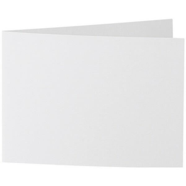 Artoz 1001 - 'Bianco White' Card. 296mm x 105mm 220gsm A6 Folded (Short Edge) Card.