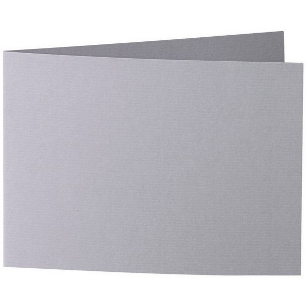 Artoz 1001 - 'Graphite' Card. 296mm x 105mm 220gsm A6 Folded (Short Edge) Card.