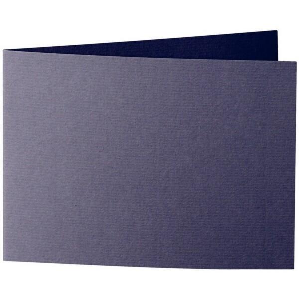 Artoz 1001 - 'Jet Black' Card. 296mm x 105mm 220gsm A6 Folded (Short Edge) Card.