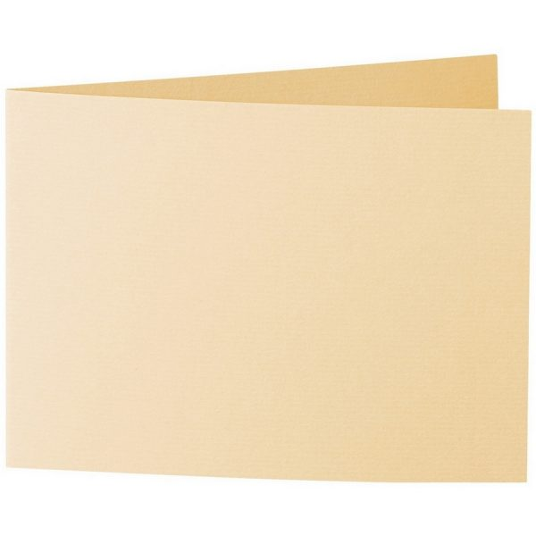 Artoz 1001 - 'Honey Yellow' Card. 296mm x 105mm 220gsm A6 Folded (Short Edge) Card.
