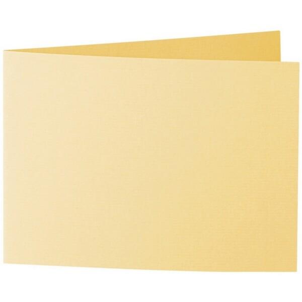 Artoz 1001 - 'Light Yellow' Card. 296mm x 105mm 220gsm A6 Folded (Short Edge) Card.
