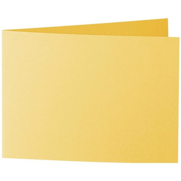 Artoz 1001 - 'Sun Yellow' Card. 296mm x 105mm 220gsm A6 Folded (Short Edge) Card.