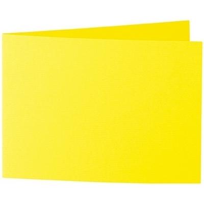 Artoz 1001 - 'Corn Yellow' Card. 296mm x 105mm 220gsm A6 Folded (Short Edge) Card.