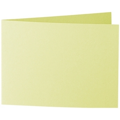 Artoz 1001 - 'Lime' Card. 296mm x 105mm 220gsm A6 Folded (Short Edge) Card.