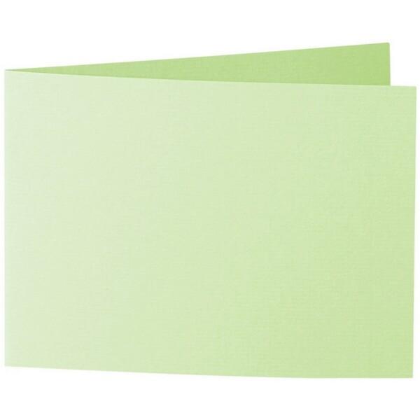 Artoz 1001 - 'Birchtree Green' Card. 296mm x 105mm 220gsm A6 Folded (Short Edge) Card.