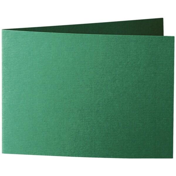 Artoz 1001 - 'Racing Green' Card. 296mm x 105mm 220gsm A6 Folded (Short Edge) Card.