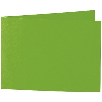 Artoz 1001 - 'Pea Green' Card. 296mm x 105mm 220gsm A6 Folded (Short Edge) Card.