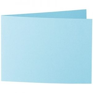 Artoz 1001 - 'Azure Blue' Card. 296mm x 105mm 220gsm A6 Folded (Short Edge) Card.