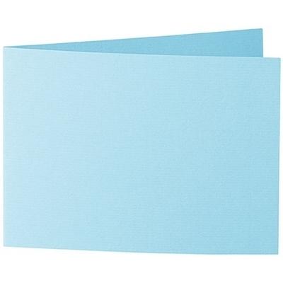 Artoz 1001 - 'Azure Blue' Card. 296mm x 105mm 220gsm A6 Folded (Short Edge) Card.
