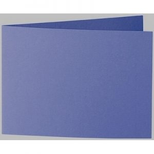Artoz 1001 - 'Indigo' Card. 296mm x 105mm 220gsm A6 Folded (Short Edge) Card.