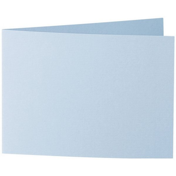 Artoz 1001 - 'Pastel Blue' Card. 296mm x 105mm 220gsm A6 Folded (Short Edge) Card.