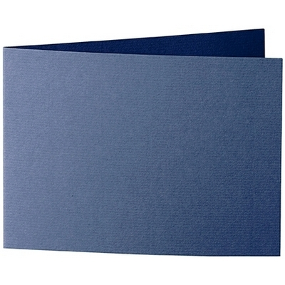 Artoz 1001 - 'Classic Blue' Card. 296mm x 105mm 220gsm A6 Folded (Short Edge) Card.