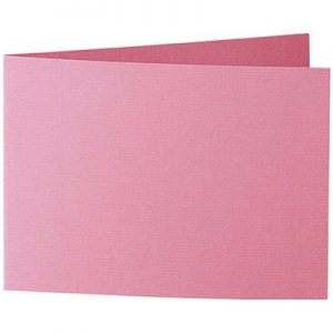 Artoz 1001 - 'Coral' Card. 296mm x 105mm 220gsm A6 Folded (Short Edge) Card.