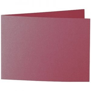 Artoz 1001 - 'Purple Red' Card. 296mm x 105mm 220gsm A6 Folded (Short Edge) Card.