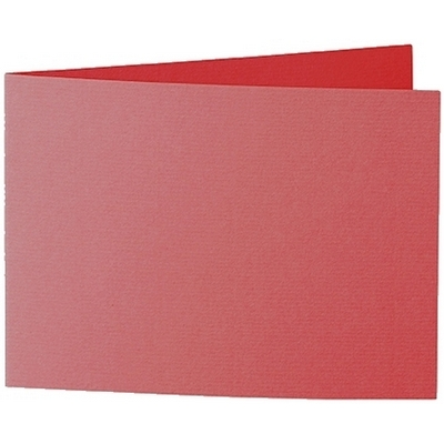 Artoz 1001 - 'Red' Card. 296mm x 105mm 220gsm A6 Folded (Short Edge) Card.