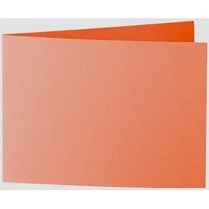 Artoz 1001 - 'Lobster Red' Card. 296mm x 105mm 220gsm A6 Folded (Short Edge) Card.